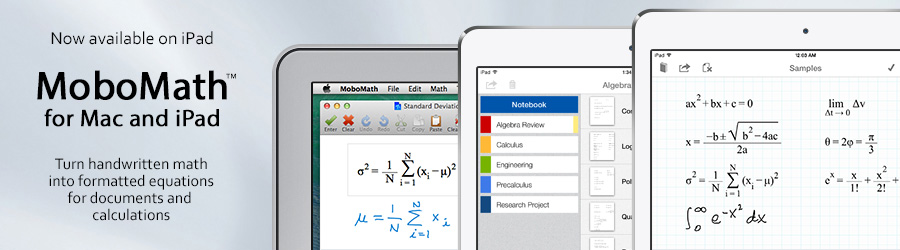 MoboMath for Mac and iPad