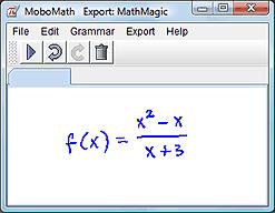 Handwritten expression in MoboMath
