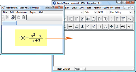 Drag from MoboMath to MathMagic